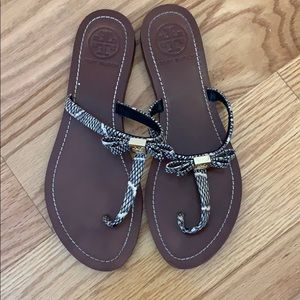 New Tory Burch Snake Skin Sandals size 7